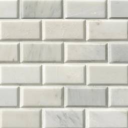 Greecian White Subway Tile Beveled 2x4  Product Page