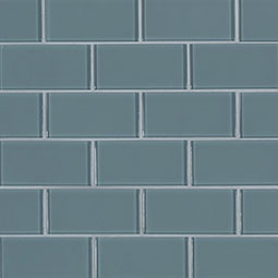 Harbor Gray Subway 2x4x8mm Glass Backsplash Tile Product Page