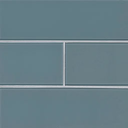 Harbor Gray Subway Tile 4x12x8mm Glass Backsplash Tile