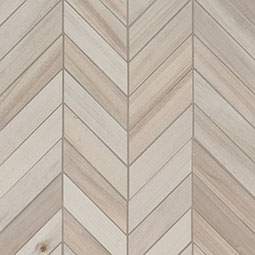 Havenwood Dove Chevron Mosaic 12x15 wood look wall tile