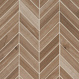 Havenwood Saddle Chevron Mosaic 12x15 wood look wall tile