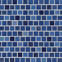 Hawaiian Blue 1x1x4mm Staggered  Glass Mosaic Tile