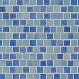 Hawaiian Coast 1x1x4mm Staggered  Glass Mosaic Tile