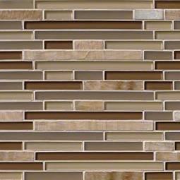 Honey Caramel Onyx Glass Stone Blend Interlocking Pattern 8MM