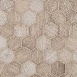"Honey Comb 2"" Hexagon Multi Finish"