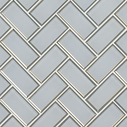 Ice Bevel Herringbone Backsplash Tile Product Page