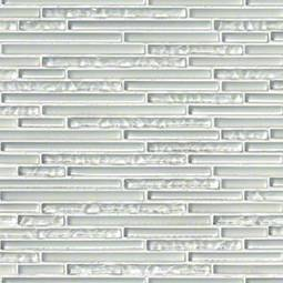 Ice Floe Blend Interlocking Pattern 8mm Glass Backsplash Tile