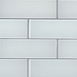 Ice Glass 3x9x8mm  Backsplash Tile