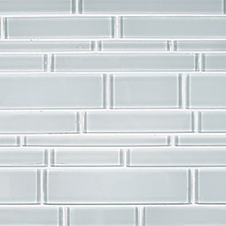 Ice Interlocking Pattern 12x18x8mm Glass Backsplash Tile