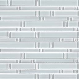 Ice Interlocking Pattern 8mm Glass Backsplash Tile