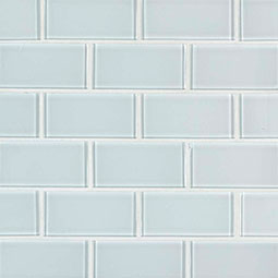 Ice Subway 2x4x8mm Glass Backsplash Tile