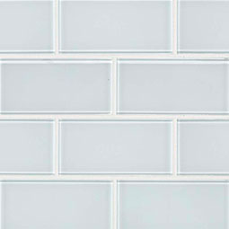 Ice Subway Tile 3x6x8mm Glass Backsplash Tile Product Page