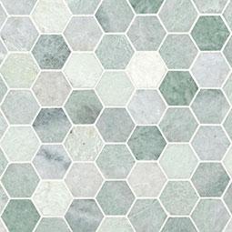 """Icelandic Green 2"""" Hexagon Polished"""