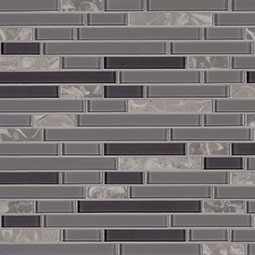 Lorena Grigio Interlocking 4mm Decorative Mosaic Tile