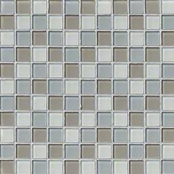 Majestic Ocean Crystallized Glass 1x1x4MM in 12x12 Mesh  Glass Backsplash Tile