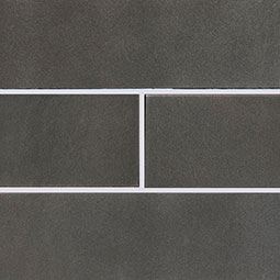 Metallic Gray Glass Subway Tile 4x12