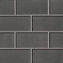 Metallic Gray Subway Tile 3x6 Glass Backsplash Tile