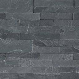 Midnight Ash Peel and Stick Stacked Stone Backsplash