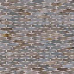 Mochachino Hexagon Pattern 3mm Glass Backsplash Tile