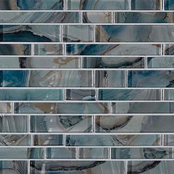 Night Sky Interlocking 8mm Glass Backsplash Tile