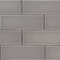 Pebble 3x9x8mm Glass Backsplash Tile