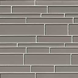Pebble Interlocking Pattern 12x18x8mm Glass Backsplash Tile