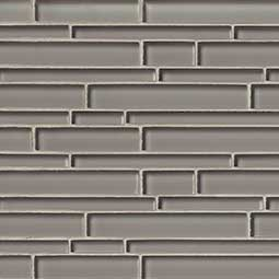 Pebble Interlocking Pattern 8mm Glass Backsplash Tile