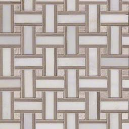 Renaissance Basketweave Pattern Honed Tile