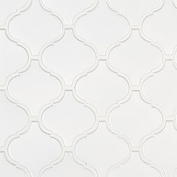 Retro Bianco Arabesque 6mm Matte