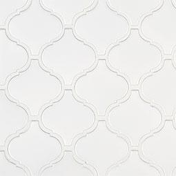 Retro Bianco Arabesque 6mm Matte  Product Page