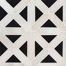 Retro Fretwork Polished Backsplash Tile