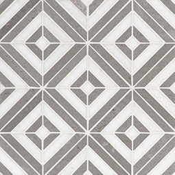 Rhombix Dove Polished geometric tile pattern Product Page