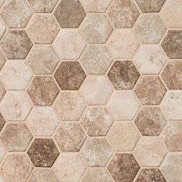 Sandhills Hexagon Mosaic Tile