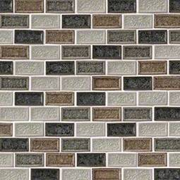 Sandy Beaches Blend 1x2x8mm Glass Backsplash Tile