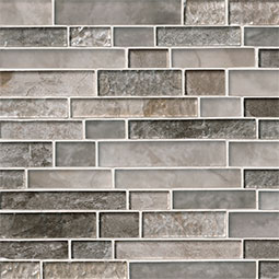 Savoy Interlocking Pattern 8mm Glass Backsplash Tile