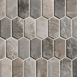 Savoy Picket Pattern 8mm Glass Backsplash Tile