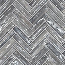 Shimmering Silver Herringbone 8mm