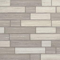 Silva Oak Interlocking 6mm Glass Mosaic Tile