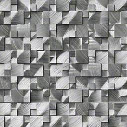 Silver Aluminum Metal 3D Pattern Metal Tile Product Page