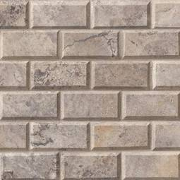 Silver Travertine Subway Tile 2x4