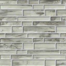 Silvermist Interlocking Pattern 8mm Glass Backsplash Tile