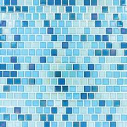 Sky Blue Blend  Glass Backsplash Tile