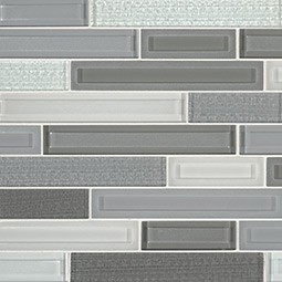 Skyline Staks Interlocking Pattern Glass Backsplash Tile