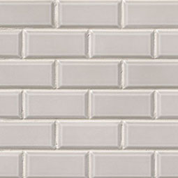 Gray Subway Tile 2x4 Beveled
