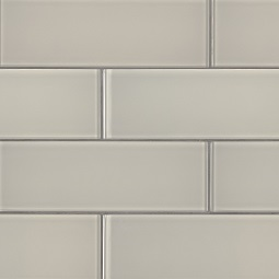 Snowcap White 3x9x8mm Glass Backsplash Tile