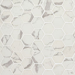 Statuario Celano Hexagon Mosaic Tile
