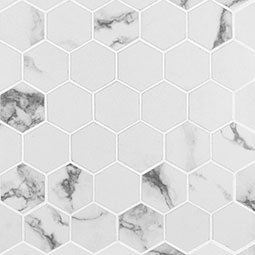 Statuario Matte 2X2 Hexagon Mosaic