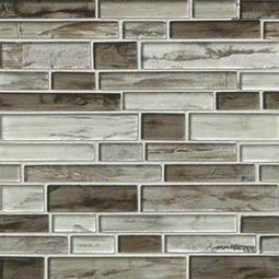 Sterling Interlocking Pattern 8mm Glass Backsplash Tile