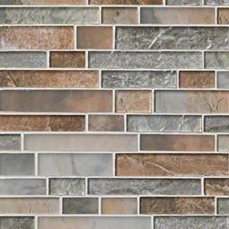 Taos Interlocking Pattern 8mm Glass Backsplash Tile