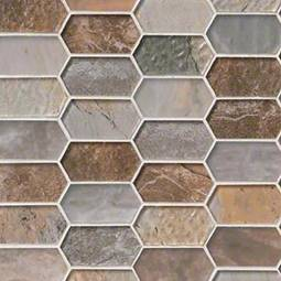 Taos Picket Pattern 8mm Glass Backsplash Tile